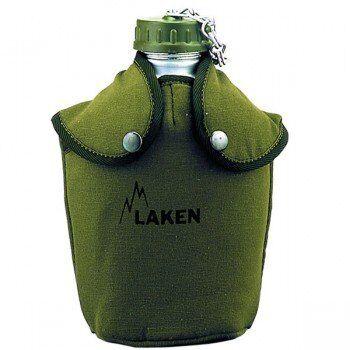 Laken Gourde militaire en aluminium type US Jungle 1.3 litre avec housse