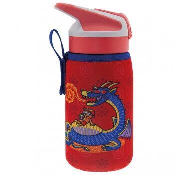 Laken Gourde enfant inox isotherme Housse et bouchon paille Summit, 0.35 litre, Laken Motif Dragon