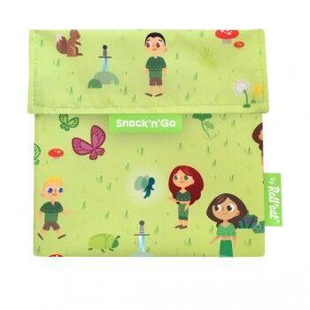 Soif de Gourde Sac a goûter enfant lavable et réutilisable de Roll'eat Couleur Vert