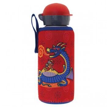 Laken Gourde enfant alu et sa housse neoprene 0,45 litre, Laken Motif Dragon
