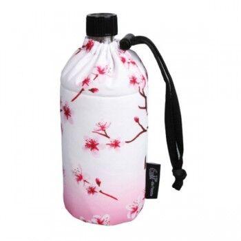 Emil Die Flasche Gourde en verre isotherme 0.6 litre Motif Fleur de Cerisier