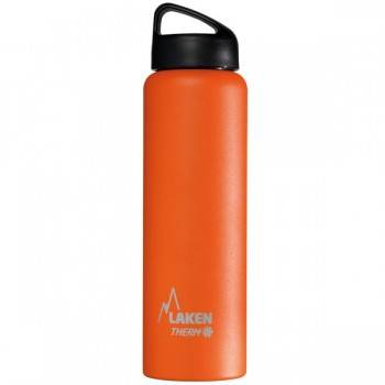 Laken Gourde isotherme inox 1 litre large goulot Laken Couleur Orange