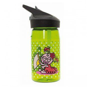 Laken Gourde enfant en Tritan, 0,45 litre, bouchon paille, Laken Motif Flamenco