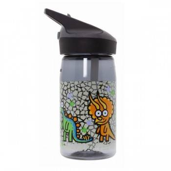 Laken Gourde enfant en Tritan, 0,45 litre, bouchon paille, Laken Motif Dinosaure
