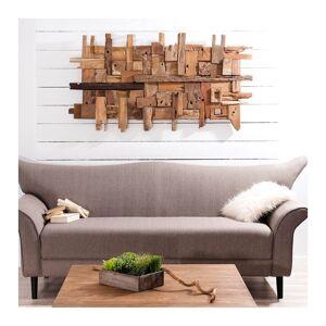SO INSIDE Déco murale naturelle bois flotté rectangulaire Elias - Publicité