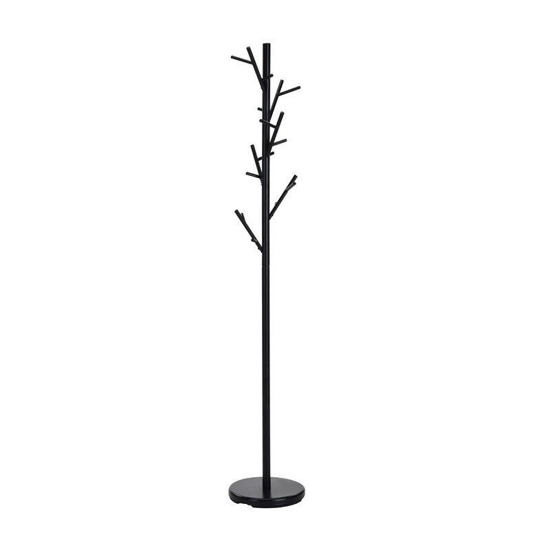SO INSIDE Porte-manteau arbre en métal noir Raften
