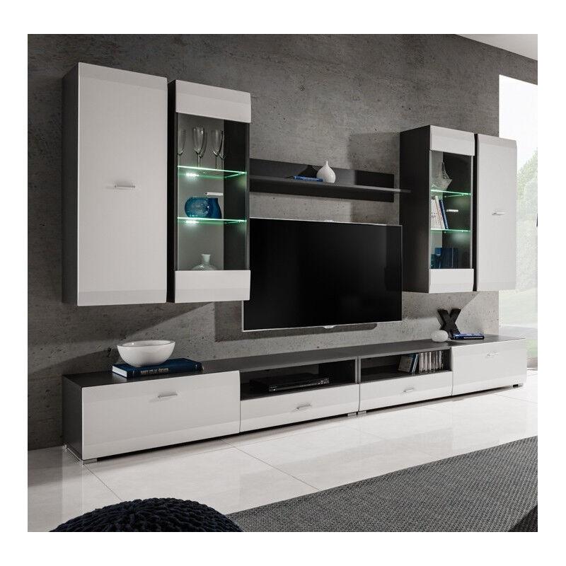 SO INSIDE Ensemble TV blanc et gris mat Zao