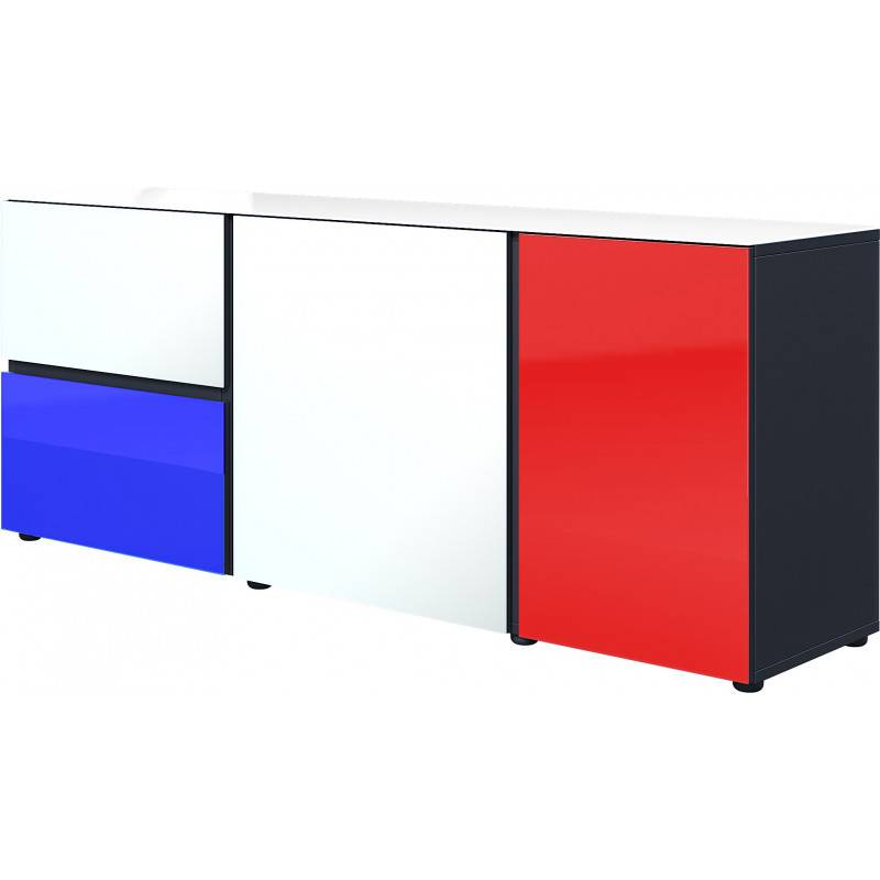 SO INSIDE Buffet design 3 portes façade verre France