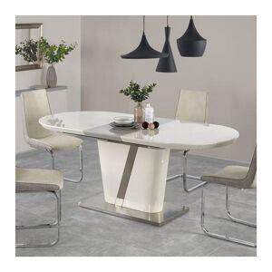 SO INSIDE Table à manger ovale grise et beige avec rallonge Elisée - Publicité
