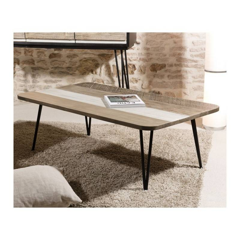 SO INSIDE Table basse industrielle rectangulaire 120x70 Alice