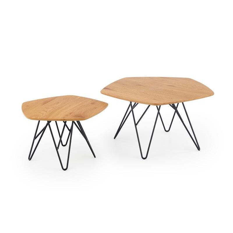 SO INSIDE Double table basse contemporaine 56x75 cm Teddy