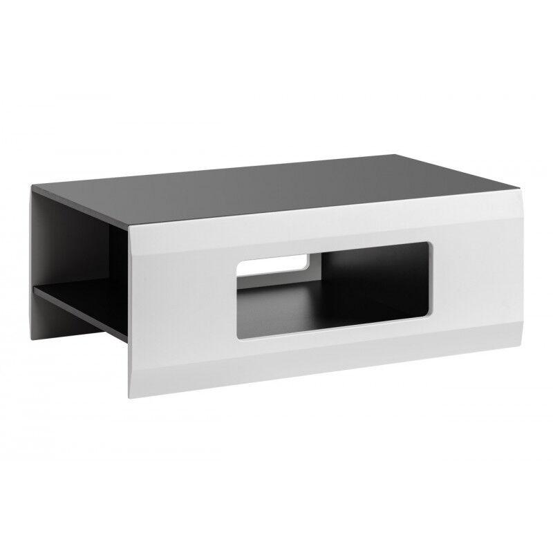 SO INSIDE Table basse blanche et gris mat Zao