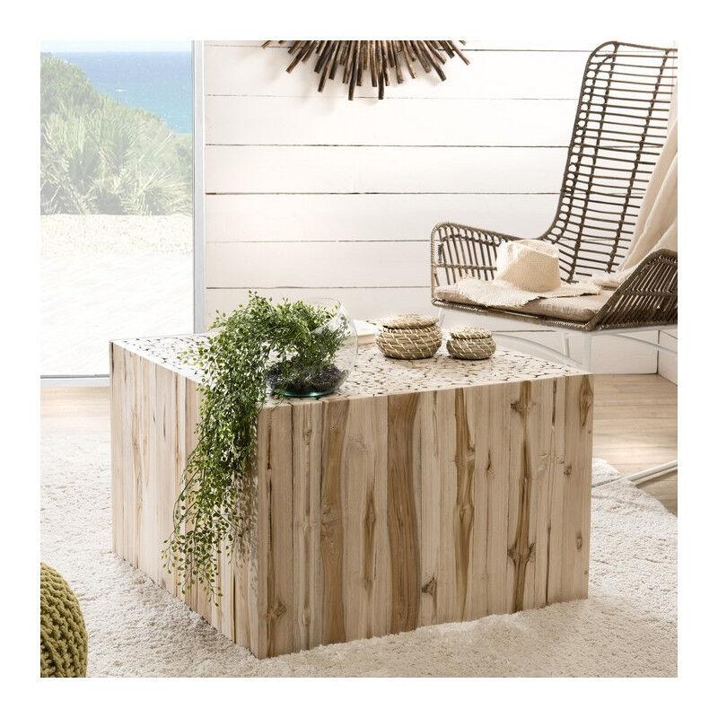 SO INSIDE Table basse carrée en teck 70x70cm Woody