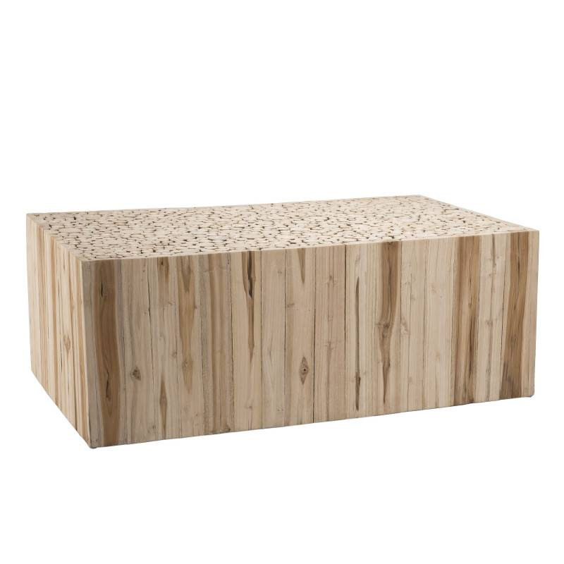 SO INSIDE Table basse design rectangulaire teck 110x60cm Woody