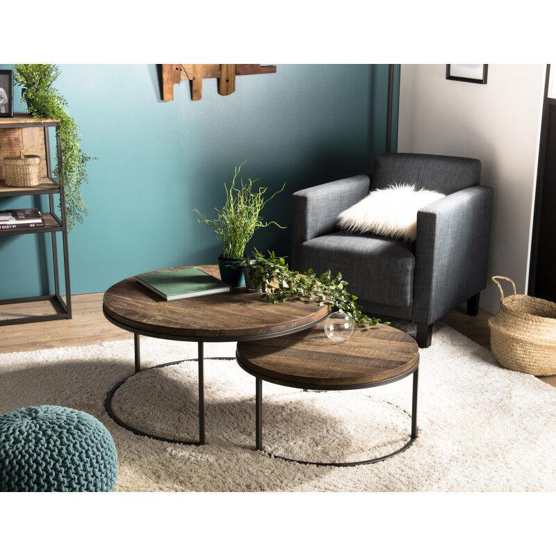 SO INSIDE Tables basses gigogne x2 design industriel Tinesixe