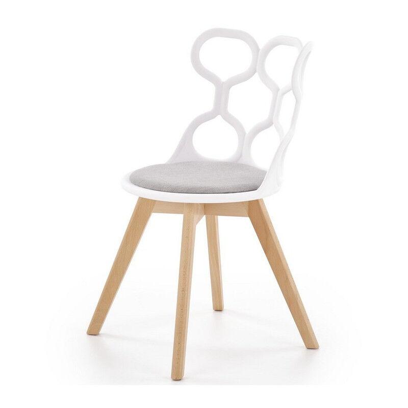 SO INSIDE Chaise scandinave design avec assise grise Lali