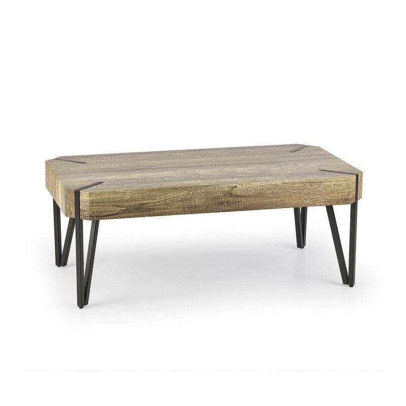 SO INSIDE Table basse industrielle bois et métal Nido