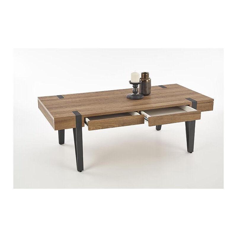 SO INSIDE Table basse industrielle à tiroirs Belize