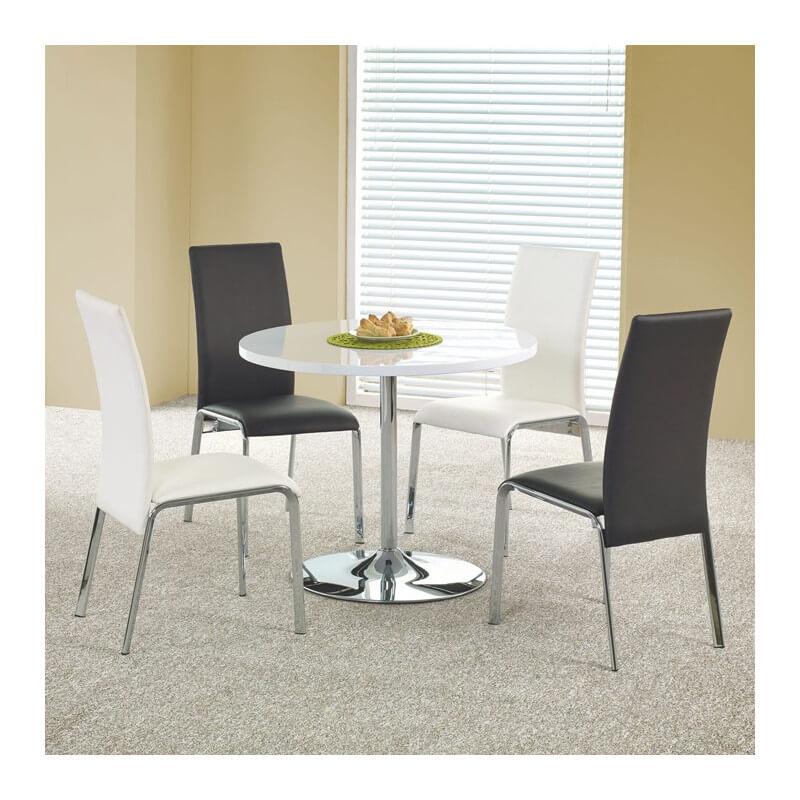 SO INSIDE Table de cuisine ronde blanche Fred