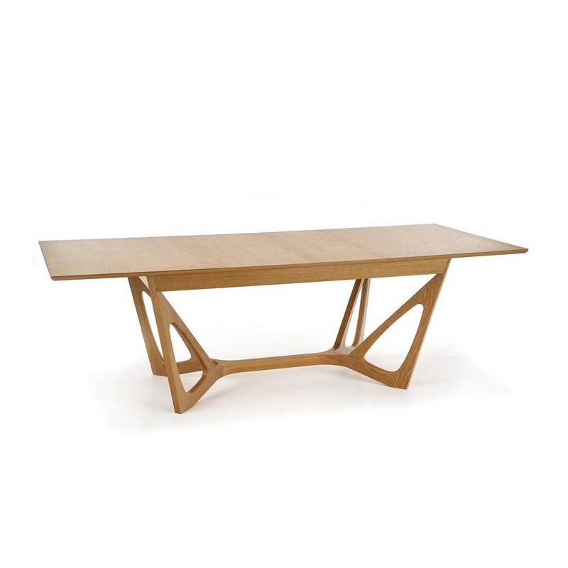 SO INSIDE Table a manger design couleur chêne 160-240cm Trust