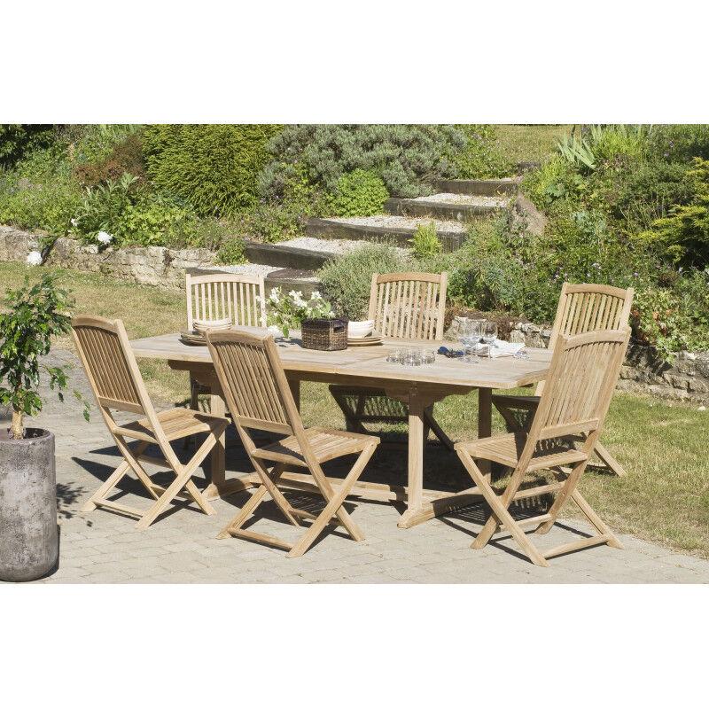 SO INSIDE Table rectangulaire extensible 180/240x100x75cm en bois de teck Summer