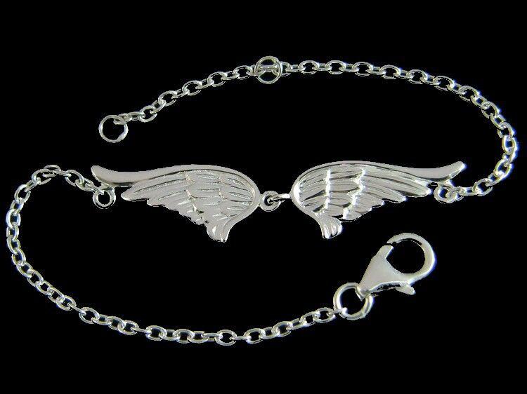superbijoux Bracelet femme enfant Ailes d'ange en argent 19cm