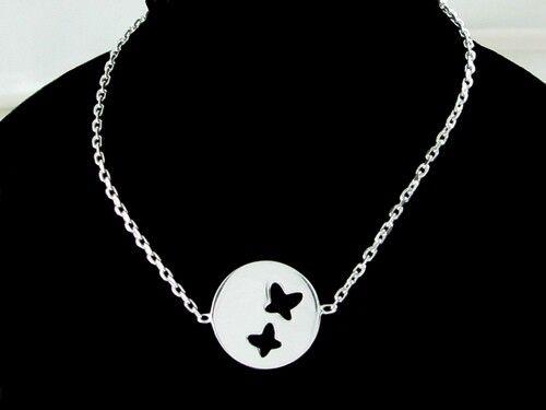 superbijoux Bracelet femme enfant médaille papillon en argent - 18cm