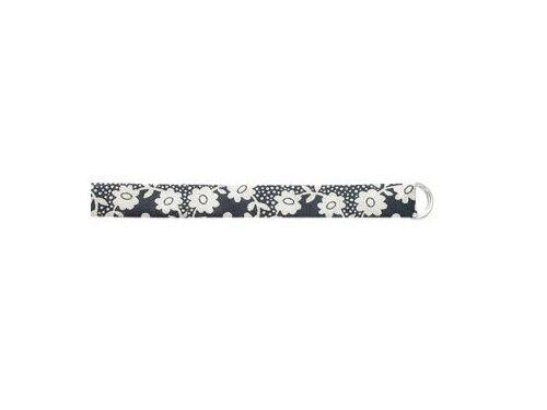superbijoux Bracelet femme enfant en tissu Liberty noir et argent 23cm LI18