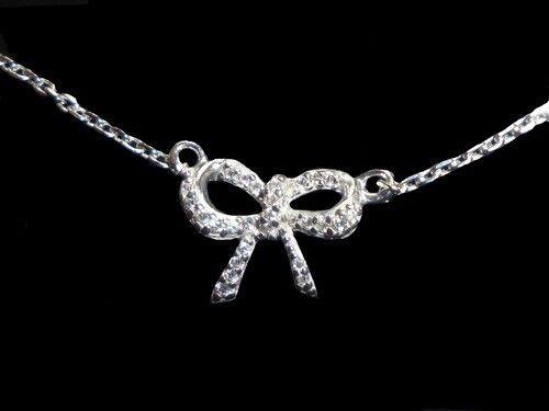 superbijoux Bracelet femme enfant noeud papillon cz cristal en argent 18cm