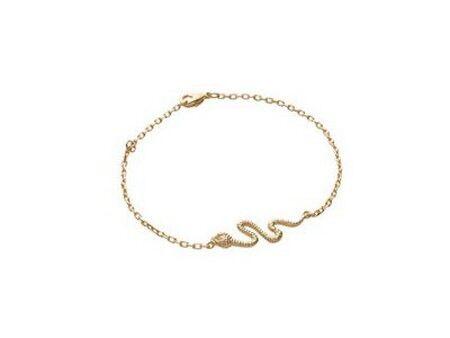 superbijoux Bracelet breloques femme enfant serpent en plaqué or - 18cm