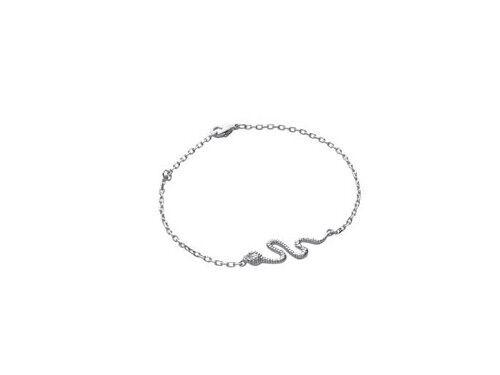 superbijoux Bracelet breloques femme enfant serpent en argent - 18cm