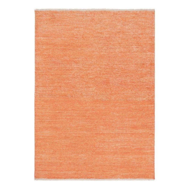 Pure Tapis moderne Ligne Pure viscose orange Uni