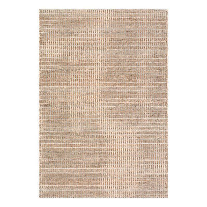 Pure Tapis moderne coton uni beige Ligne Pure Flatweave