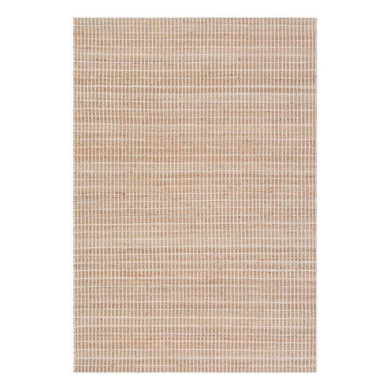 Pure Tapis moderne beige coton uni Flatweave Ligne Pure
