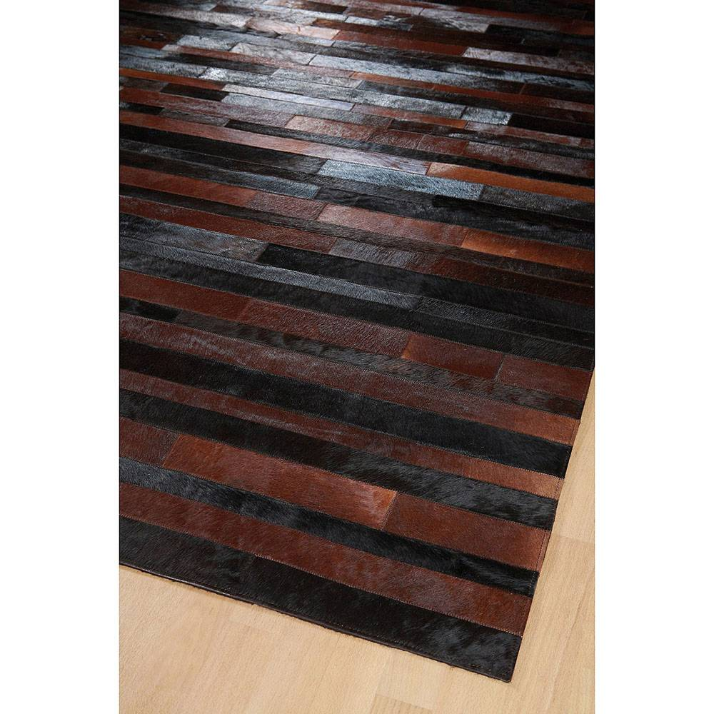 Home Spirit Tapis marron et noir JACOB HOME SPIRIT patchwork