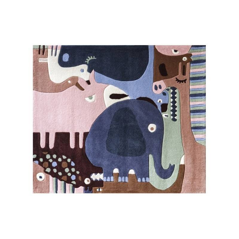 ART Tapis enfant PUZZLE ANIMAUX multicolore Art for Kids