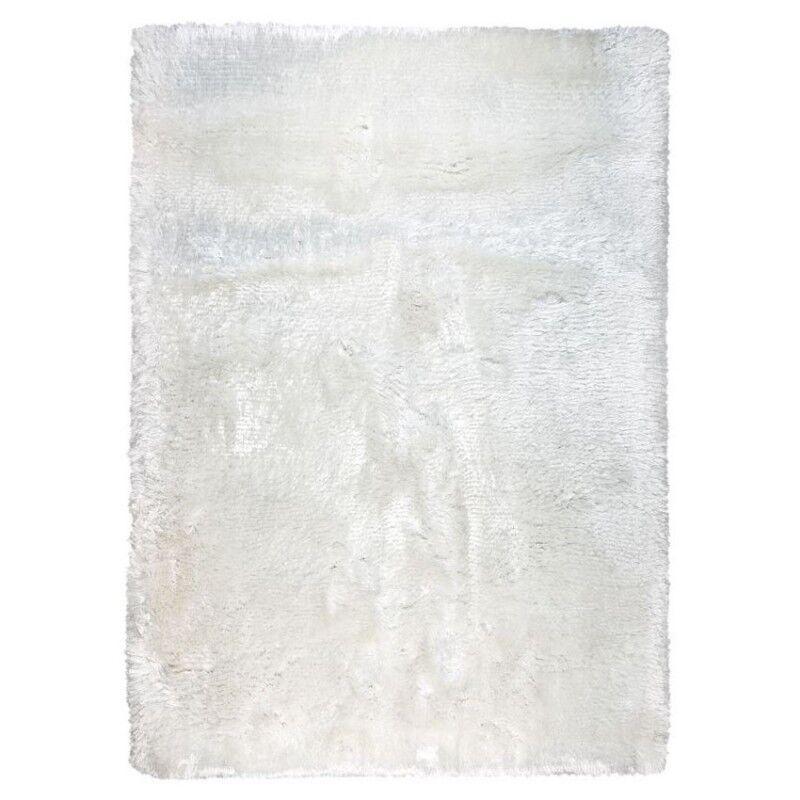 Pure Tapis shaggy blanc Ligne Pure tissé main Adore