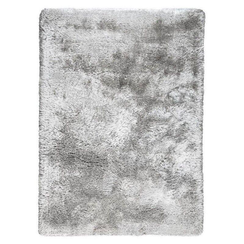 Pure Tapis tissé main gris shaggy Adore Ligne Pure