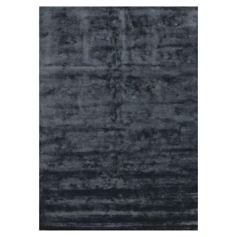 Angelo Tapis BAMBOO noir Angelo en fibres de bambou