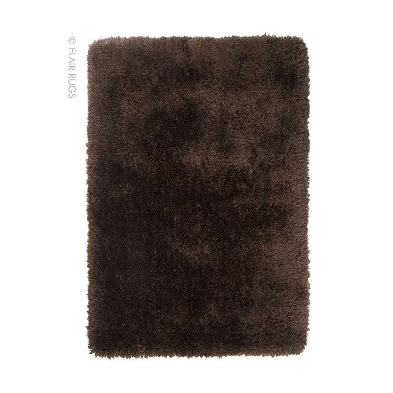 Flair Rugs Tapis shaggy tufté main chocolat Pearl Flair Rugs