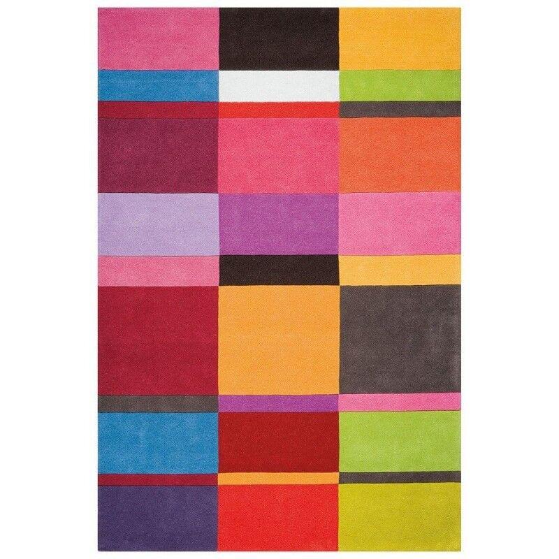 Pure Tapis laine Ligne Pure Love tufté main mutlicolore géométrique