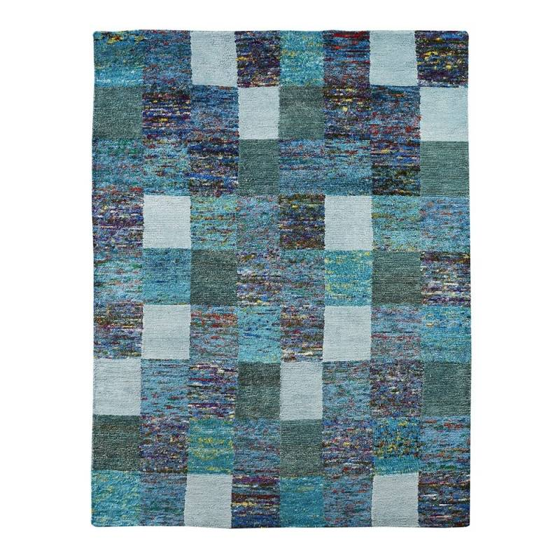 Home Spirit Tapis SARI bleu Home Spirit