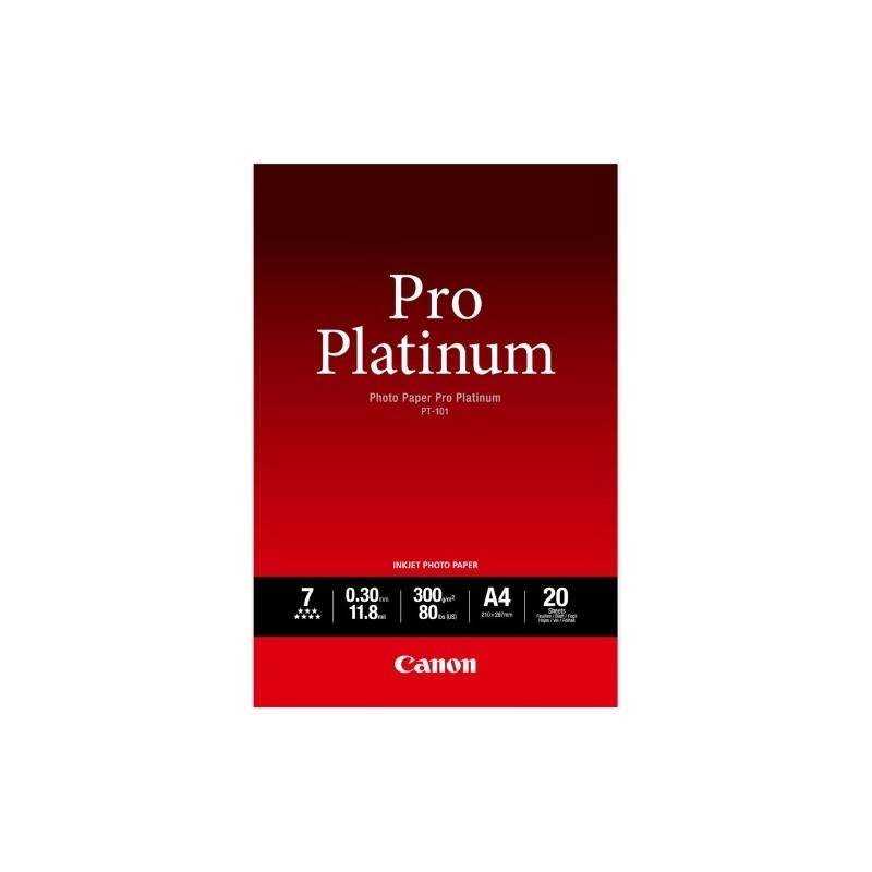 Canon PT-101 Pack 20 feuilles papier photo professionnel A4 (PT101) - 300g