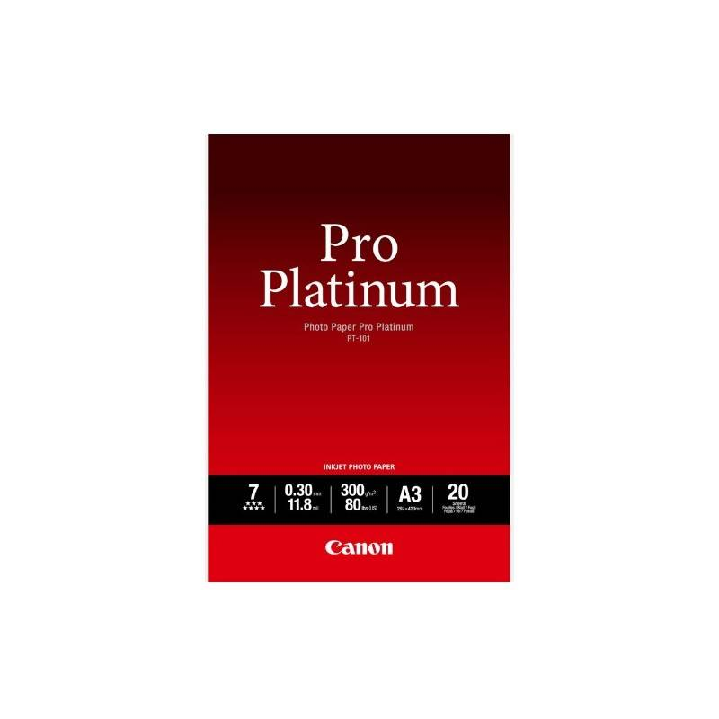Canon PT-101 Pack 20 feuilles papier photo professionnel A3 (PT101) - 300g
