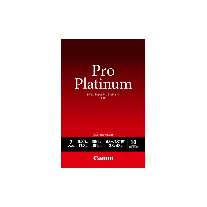 Canon PT-101 Pack 10 feuilles papier photo professionnel A3+ (PT101) - 300g