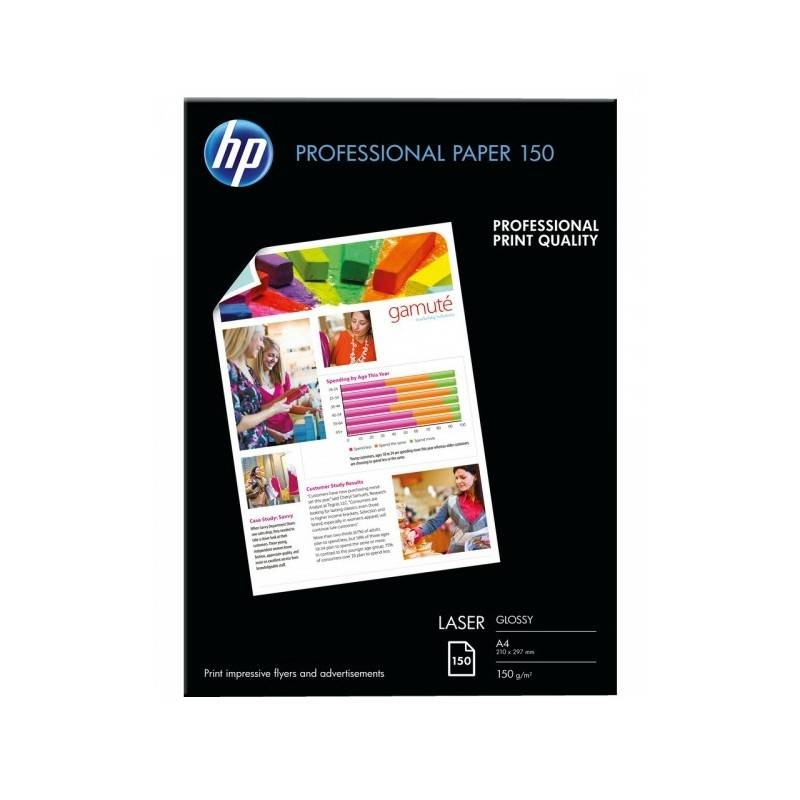HP Papier A4 brillant laser professionnel HP - 150 feuilles - 150 gr - Finition brillante