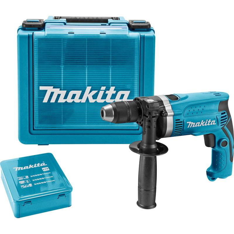 makita Perceuse à percussion Makita HP1631KX3 710W