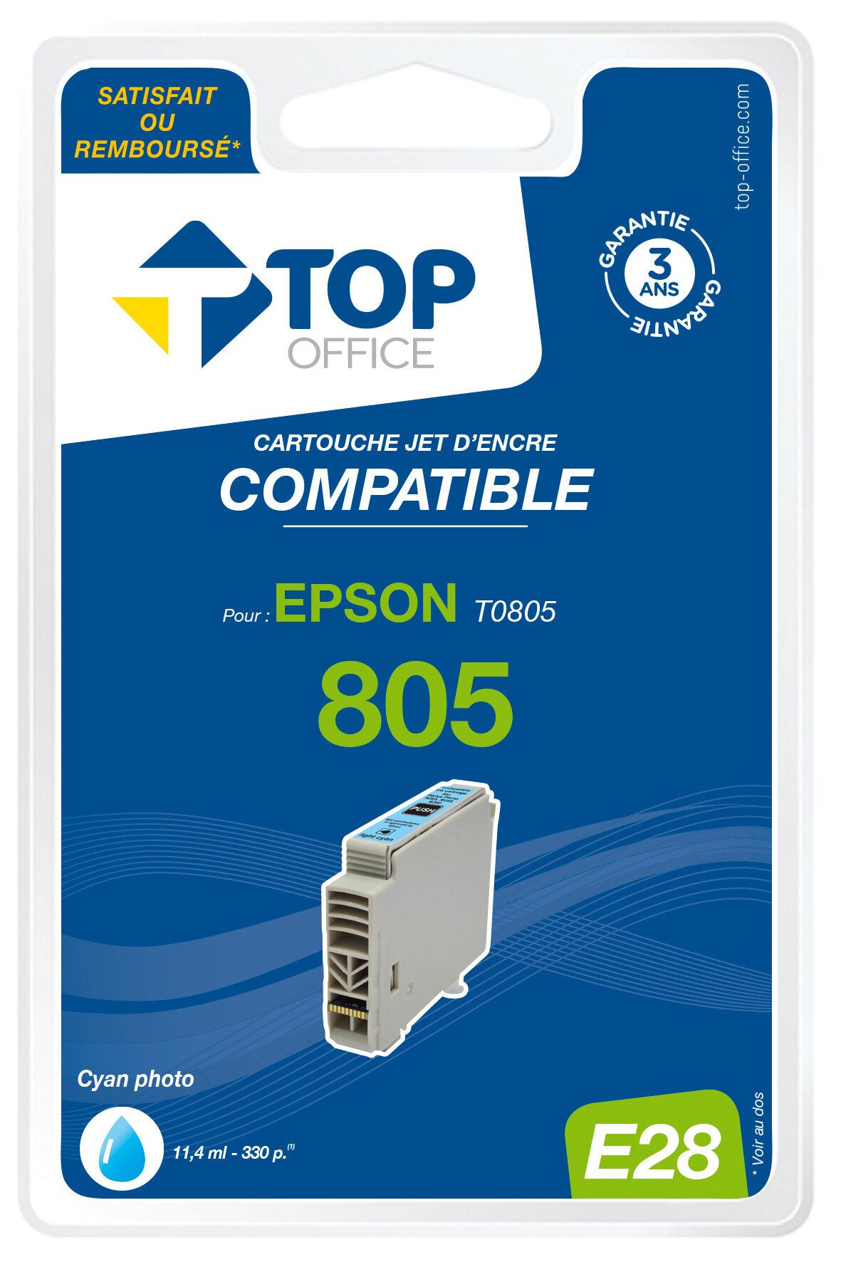 TOP OFFICE Cartouche jet d'encre compatible EPSON E28 T0805 Photo - TOP OFFICE -
