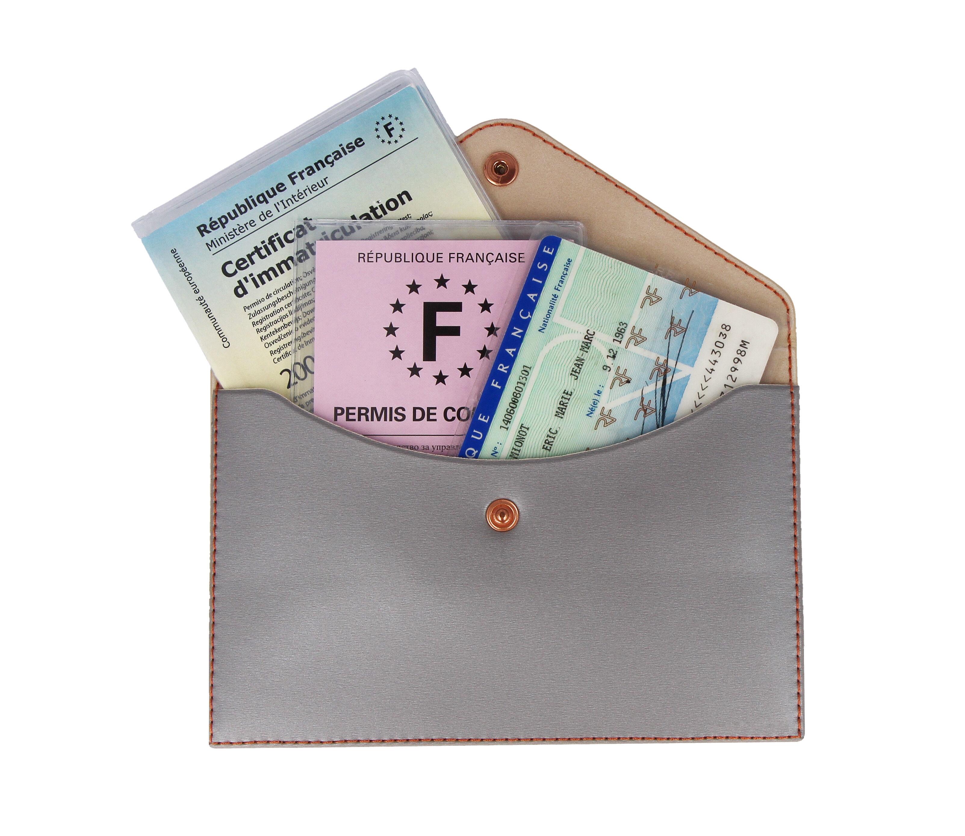 Sans marque Pochette rangement papiers voyage - COLOR POP - Gris