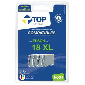 TOP OFFICE Pack de 4 cartouches jet d'encre compatibles EPSON : T18 XL - TOP OFFI - Publicité